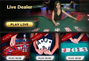 10bet's live dealer options are Blackjack, Roulette, and Baccarat
