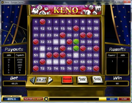 best casino games keno