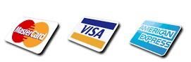 Most common credit cards providers are Visa, MasterCard and American Express