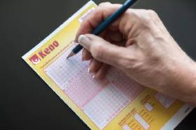 Keno card is a grid of numbers like a lottery ticket