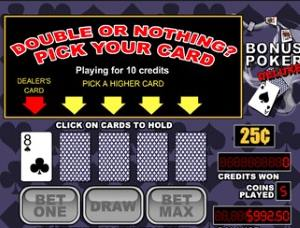 Consider the pass option in the double or bonus round while playing Video Poker
